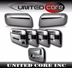 For 04 05 06 07 08 09 10 11 12 13 14 Ford F150 F-150 CHROME 4 DOOR HANDLE Covers