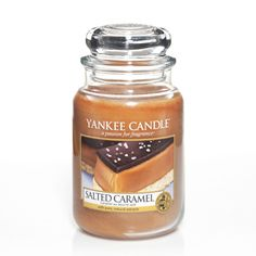 Salted Caramel-Yankee Candle-Sweet surrender is yours with our luscious gourmand confection of burnt sugar, sea salt and smooth vanilla caramel.