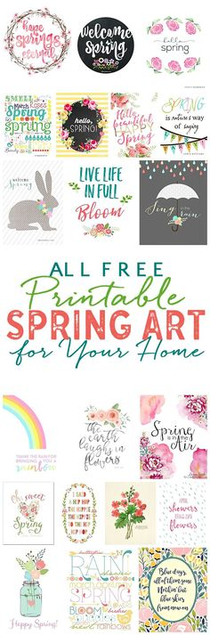 Pretty Free Spring Printables: Spring Art For Your Home! Free Spring Printables -just pop in a frame and SPRING-i-fy your home decor in minutes! Spring Art, Spring Crafts, Spring Time, Spring Decoration, Diy Bebe, Diy Cutting Board, Idee Diy, Happy Spring, Hello Spring