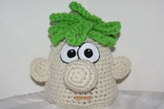 phebias and ferb crochet hats | Fun and unique character hat - inspired by Ferb on Phineas and Ferb