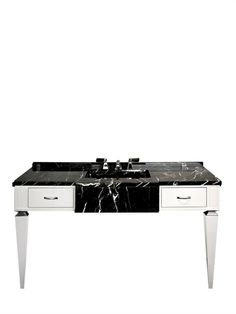 Bentley 'bentley' Wood & Marble Bathroom Console - home decor / bathroom furniture / unique