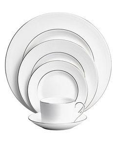 Vera Wang Wedgwood Dinnerware, Blanc sur Blanc 5 Piece Place Setting