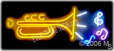 neon trumpet signs - Google Search