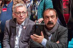 Aubervilliers : Philippe Martinez en visite au 37e congrès du PCF - A la une - via Citizenside France. Copyright : Christophe BONNET - Agence73Bis