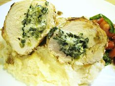 Easy, elegant Florentine Stuffed Chicken that makes the perfect dinner for two any night of the week.