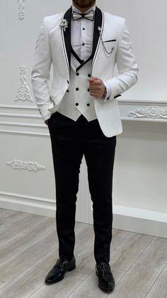 Slim Fit Tuxedo, White Tuxedo, Tuxedo For Men, Suit Vest, Vest Jacket, Tuxedo Colors, Formal Suits, Black Suits, Wedding Suits