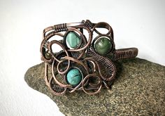 A personal favorite from my Etsy shop https://www.etsy.com/listing/542042633/copper-wire-wrapped-bracelet