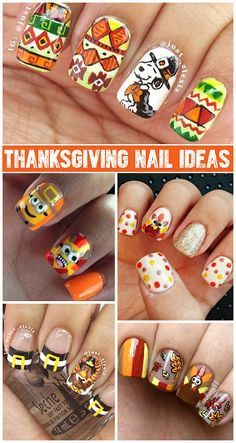 Crafty Thanksgiving Nail Ideas to Try - Crafty Morning                                                                                                                                                                                 More
