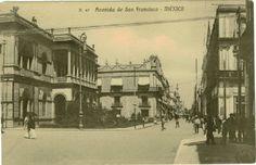 Avenida San Francisco cuyo nombre ahora es Avenida Madero,