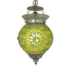 hanglamp bol mozaïek turkish design groen