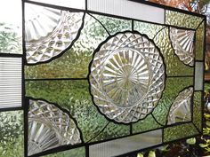 Stained Glass Panel Transom Window Treatment by HeritageDishes