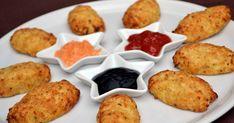 De délicieuses croquettes de chou-fleur au parmesan dorées au four :-) A servir tiède à l'apéro avec 2 ou 3 sauces ou en entrée avec...