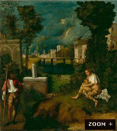 A Tempestade  Giorgione  82 X 73  Óleo sobre tela