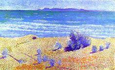 Beach on the Mediterranian - Henri-Edmond Cross (Pointilism)