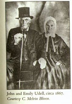 Emily Merrill (1794-1868) and husband John Udell (1793-1873), 1867, died in Vacaville, CA