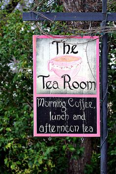 The Tea Room Sign Photograph by Linda Phelps - The Tea Room Sign Fine Art Prints and Posters for Sale