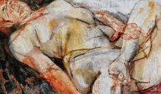 """Fausto Pirandello, """"Nudo su fondo rosso"""" (1951)."""