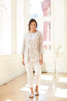 Pure Jill lightweight printed tunic