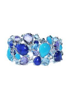Anzie - Bouquet Cuff Bracelet - Turquoise