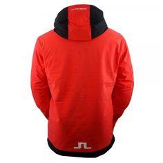 J Lindeberg Moffit Jacket Mens Ski Jacket in Racing Red Mens Ski Wear, J Lindeberg, Ski Gear, Hoodies, Sweatshirts, Skiing, Ski Jackets, White Stone, Red