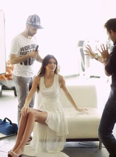 Kendall Jenner in a beautiful white dress
