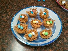 Bird nest candy for Easter.