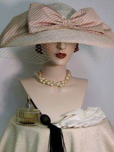 Edwardian Inspired Wide Brimmed Hat by ThistleCottageStudio