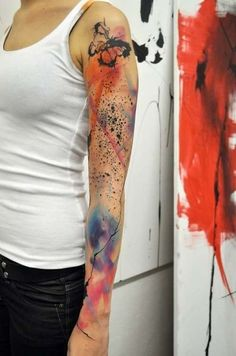 Best Watercolor Tattoos | List of Watercolor Tattoo Ideas (Page 28)