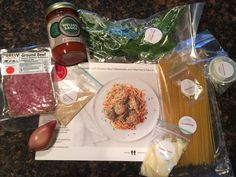 Spaghetti and hand made meatballs from @plated's February menu! Get 50% off your order of two plates at subscriptionist.com link in bio!