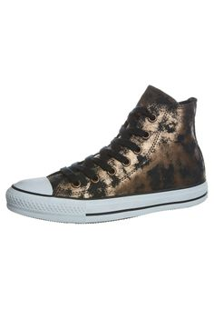 Converse - CHUCK TAYLOR ALL STAR - Sneakers high - gold and black distressed - copper