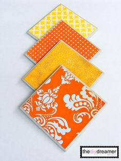Tile Coasters - when I find some scrapbook paper that matches the living room!