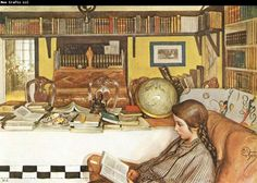 Carl Larsson The Reading Room