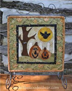 """October- Little Quilts Squared Again! patterns by The Wooden Bear! These are 12"""" x 12"""" and work great on our 12x14 tabletop stands.  Mix and match with our original 12 Little Quilts Squared patterns!"""