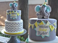 Baby shower cakes for boys, elephant baby shower cake, elephant cakes, baby Elephant Baby Shower Cake, Elephant Cakes, Baby Shower Cakes For Boys, Baby Boy Cakes, Elephant Theme, Fiesta Baby Shower, Grey Baby Shower, Baby Boy First Birthday, Welcome Baby