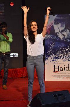 Shraddha Kapoor promoting Haider