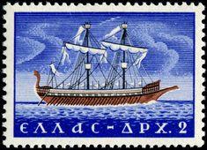 ship stamps - Stamp Community Forum - Page 12 Bosphorus Bridge, Postage Stamp Collection, Tampons, Stamp Collecting, Postage Stamps, Sailing Ships, Greece, Boat, Cartoon