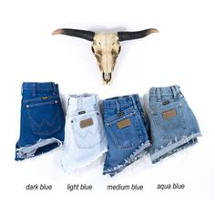 Vintage Wrangler Shorts Denim Cutoff Shorts Tattered Blue Distressed... ($30) ❤ liked on Polyvore featuring shorts, dark blue, women's clothing, ripped denim shorts, high waisted denim shorts, cut-off jean shorts, cut off jean shorts and denim shorts