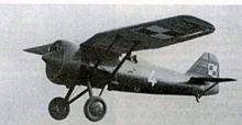 PZL P.7 in flight