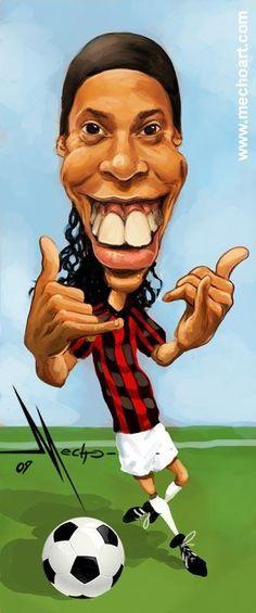 Ronaldinho  #Dinho #Caricatura #Milan #Brazil