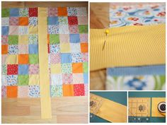 Lay border down the center to measure.  Good Bonnie Hunter hint I use all the time.  It works.