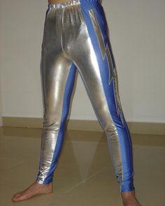 Custom Blue Lightning/gear Latex Rubber Youth Wrestling Singlet Clothes Pants For Men H020