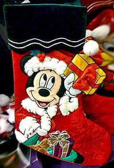 Disney Park Mickey Mouse Character Christmas Holiday Stocking NEW Disney Christmas Stockings, Disney Christmas Decorations, Mickey Mouse Christmas, Christmas Story Books, Christmas Stuff, Christmas Holidays, Christmas Gifts, Embroidered Stockings, Mickey Mouse Characters