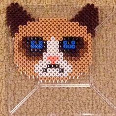 (6) Grumpy cat perler beads by Skitch   CATS   Pinterest
