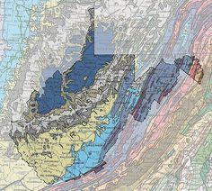 Geologic Maps of the 50 United States: West Virginia Geologic Map