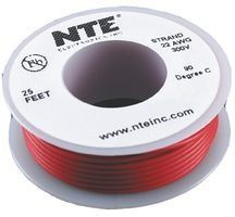 NTE WH18-07-25  Hook Up Wire Stranded Wire 300V 18AWG 25ft Violet