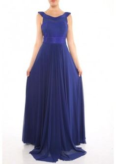 A-Linie Abendkleid 2017 Lina Blau