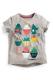 Next Grey Cupcake Top (3mths-6yrs)