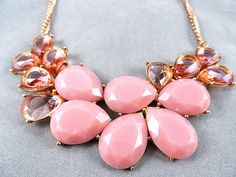 J crew Style Inspired Pink Drop Bubble by luckyjewelryworld, $9.99