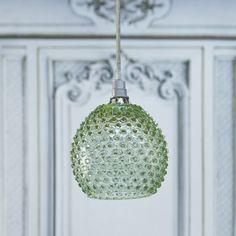Green Diamond Tip Hanging Lamp - Chandeliers & Ceiling Lights - Lighting