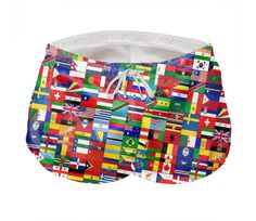 Shop WORLD FLAGS Men's Short Shorts by THE GRIFFIN PASSANT STREETWEAR (STREETWEAR) | Print All Over Me